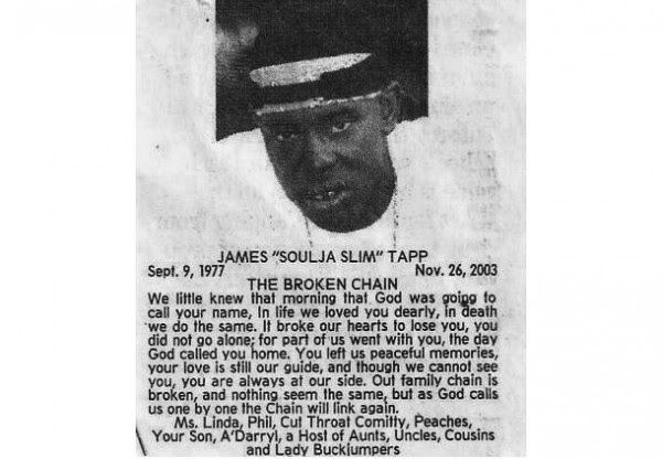 Soulja Slim's obituary